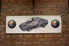 Alfa romeo 155 Q4  large pvc  WORK SHOP BANNER garage man cave SHOW