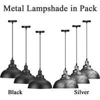 Metal Lampshade Modern Retro Curvy Ceiling Pendant Light Shade Easy Fit Light UK