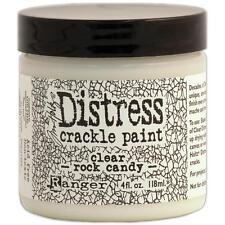 Ranger Distress Crackle Paint Clear Rock Candy finish 4oz 118mL
