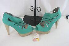 Qupid Shoes SZ 10 Green Back Zip High Heels NEW NWT Orig $379.00