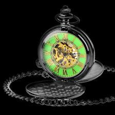 Luxus Schwarz Analog Mechanische Uhr Leuchtende Nacht Herren Taschenuhr