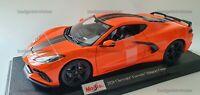 NEW MAISTO 1:18 Diecast Model Car 2020 Chevrolet Corvette Stingray Coupe Orange