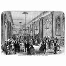Earl of March Coming of Age Ball at Goodwood - Antique Print 1867
