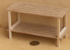 MDF Wooden Flat Pack Potting Table Table Dolls House Garden Natural Accessory