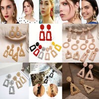 Trendy Punk Jewelry Metal Statement Dangle Drop Earrings Big Gold Geometric