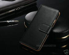 Genuine Real Leather Wallet Flip Stand Case Cover for Samsung Galaxy J5 (2017)