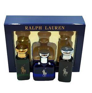 RALPH LAUREN 3 PIECE GIFT SET POLO EAU DE TOILETTE SPRAY 30ML NIB-S11362
