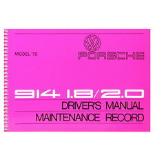 PORSCHE 914 1.8/2.0 Driver's Manual, English, MJ 1975, Betriebsanleitung, SM15