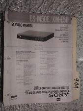 Sony es-m50e xm-e50 service manual original repair book stereo car radio eq