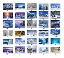 Personalized Return Address Labels Winter Sceneries Buy 3 get 1 free (ws1)