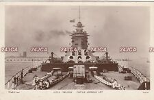 Royal Navy RP Postcard. HMS Nelson Battleship. Foc'sle Looking Aft 1933