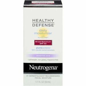 2PK Neutrogena Healthy Defense Sensitive Skin Daily Moisturizer SPF 50- Exp 8/20