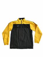 Nike Storm Fit Large Wind Breaker Track Jacket Yellow Black Lightweight Football