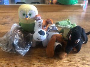 Secret Life of Pets Soft Plush figure toy playset Max Duke Sweetpea Pops Buddy