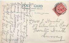 Genealogy Postcard - Family History - Hunter - Thornton Heath - Surrey  A9300