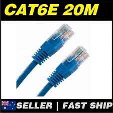 1 x 20m Cat 6 Cat6 Blue Network LAN Cable Home NBN ADSL Phone PS4 Xbox TV