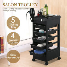 Salon Trolley Storage Cart Coloring Beauty Hair Dryer Holder Stylist Equipment
