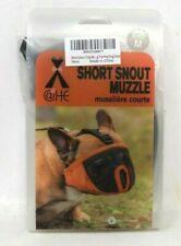 Short Snout Dog Muzzles- Adjustable Breathable Mesh Muzzle, M Size Black & Grey