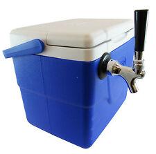 Single Tap Beer Jockey Box, 9 qt Picnic Cooler, 1x50' High Efficiency Coil