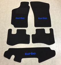 Autoteppich Fußmatten für Fiat Coupe 16V + 20V Turbo 94'-00' sw blau Neu 5teilig