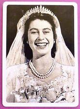 SWAP CARD. PRINCESS / QUEEN ELIZABETH ROYAL WEDDING HAPPY BRIDE WESTMINSTER.WIDE