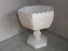 """Imperial Glass SCROLL Milk Glass Compote Candy Dish Bowl 5 3/4"""""""