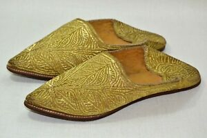 Vintage women balgha  Moroccan Slippers Charbil Wedding Marriage Hight quality