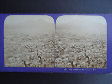 PHOTO  STEREO JEAN ANDRIEU ITALIE NAPLES VUE GENERALE STEREOVIEW