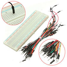 Hot 830 Tie Points MB102 Solderless Breadboard +65Pcs Jumper Cable for Arduino