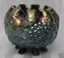 Dugan Amethyst Carnival Glass Grape Delight Rose Bowl VINTAGE
