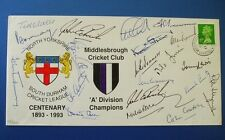 1993 NORTH YORKS CRICKET LEAGUE COVER SIGNED BY 20 x ENGLAND TEST LEGENDS