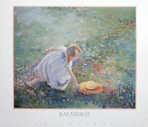 Le Chapeau - Kalmbach print , 58x48cm, children impressionist poster