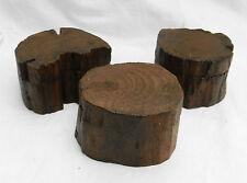 Slide Top in Legno Anello Ciondolo Box/Scatola/gioielli le forme naturali di log-Nuovissimo con etichetta