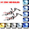 2Pcs 35W H1 HID Xenon Lights 3000K 6000K 12000K Headlight Conversion Kit Lamp US