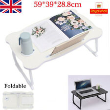 More details for folding laptop desk table bed laptop stand lap tray portable sofa breakfast tray