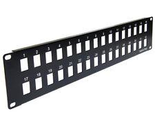 2U Blank Patch Panel, Keystone Jack Network Rack Mount, 32 Ports - PP3-311/32