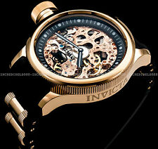 Invicta 1090 Men's Russian Diver Mechanical Skeleton 18K Rose Gold Plated Watch