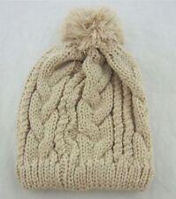 Cappelli da donna beige in misto lana