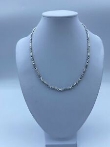"""18ct White Gold Designer Chain Necklace For Women - 16"""", 3mm, 14g"""