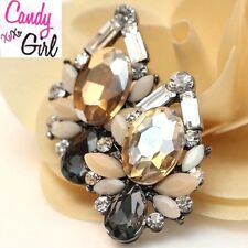 Luxury Crystal Diamante Large Stud Earrings UK