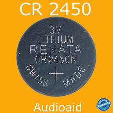 2PC RENATA CR2450 Lithium Batteries 3V - GENUINE Swiss Made