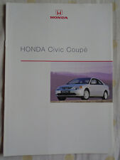 Honda Civic Coupe brochure Feb 2001 German text