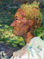 """Russischer Realist Expressionist Öl Leinwand """"Porträt"""" 39x30 cm"""