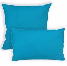 Aa192a Plain Deep Turquoise Cotton Canvas Cushion Cover/Pillow Case*Custom Size*