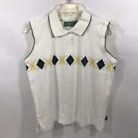 Liz Claiborne Liz Golf Medium Ladies Sleeveless Polo Golf Shirt