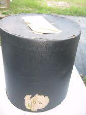 Vintage ? Black Large Hat Empty Hat Box great decor