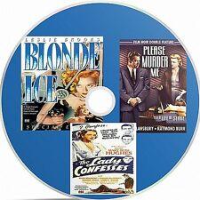 Blonde Ice, Please Murder Me, The Lady Confesses 3 Public Domain films On DVD