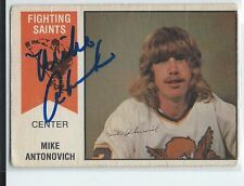 Mike Antonovich Signed 1974/75 O-Pee-Chee WHA Card #37