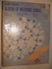 World's Favorite Series No. 19 Album of Wedding Songs 1962 Ave Maria Lohengrin +