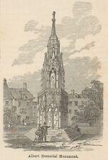 C8081 London - Albert Memorial Monument - Stampa antica - 1892 Engraving